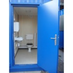 Converted Container Toilet