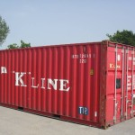 20ft used container red